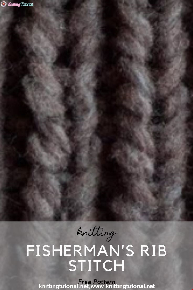 How to Knit the Fisherman's Rib Stitch {English Style}