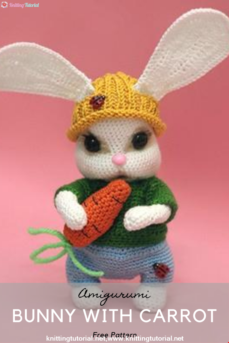 Amigurumi Bunny With Carrot Crochet Pattern